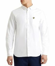Lyle & Scott Mens Regular Fit Oxford Shirt in White Large