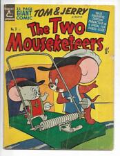 The Two Mouseketeers #3 1950's Australian Mousetrap Cover!
