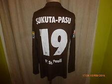Fc st. Pauli original manga larga Camiseta matchworn 2009/10 + nº 19 sukuta-pasu talla XL