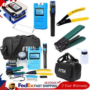 FTTH Fiber Optic Splicing Splice Fiber Cleaver FC-6S Stripper Tool Kit ≥48hrs
