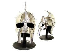 Roman Gladiator Maximus Helmet with Spikes Armor & Padded Leather Liner