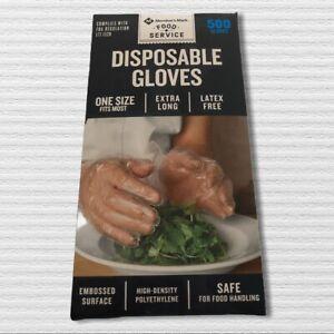 Member's Mark Plastic Disposable Gloves (1 Box with 500 Gloves) BRAND NEW!