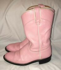 J CHISHOLM Pink Leather Western Cowboy Rodeo Country Boots Sz 5.5