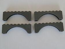 Lego 3308# 4x Brücke 1x8x2 grau neu dunkelgrau 6210 9474 4204 70014