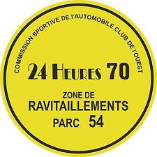 Le Mans 24 h 1970 Parking permis Fenêtre Autocollant Steve McQueen circuit heure
