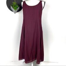 Eileen Fisher Burgandy/Maroon Cotton Sun Dress PP
