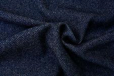 WOOL CASHMERE BLEND BLUE DENIM INSPIRERD FINE HERRINGBONE WEAVE MADE IN ITALYC83