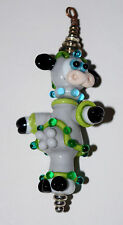 Handmade Glass Lampwork Bead COWS-MOO-NAUT #1 approx 3 1/2 inches tall