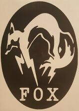 Metal Gear FOX Logo Vinyl Sticker Decal home laptop choose size and color