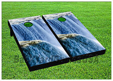 Vinyl Wraps Cornhole Boards Decal Waterfall Niagra Bag Toss Game Stickers 485