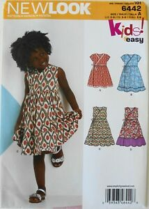 New Look 6442 Girls Dresses Sewing Pattern Sz 3-8