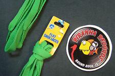 "Green Thin Flat 45"" x (3/8""-5/8"") JN Shoelaces Shoe Strings Piranha Records"
