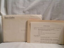 1956 HOUSE AND GARDEN CHRISTMAS GIFT BOXES DESIGNS IN ENVELOPE