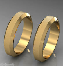 Pair of Wedding bands 14k SELECT YELLOW or  WHITE or ROSE GOLD DA515