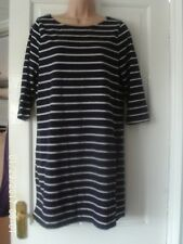 NAVY BLUE AND WHITE DRESS / LONG TOP, BY DOROTHY PERKINS, SIZE 16