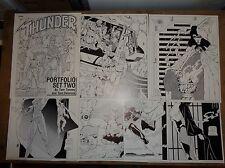 Original Art Portfolio (T.H.U.N.D.E.R. Agents) 7 Pgs; Tenny; Delarosa (ART#0240)