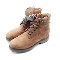 "Timberland Men's Heritage 6"" Premium Waterproof Classic Boots, Brown Size 7.5M"