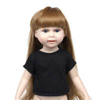 Cool Black Model Short Sleeve T-shirt Clothes For 18Inch  Girl Doll Gift