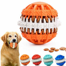Pet Dog Chew Treat Toy Puppy Cat Clean Teeth Rubber Ball Foods Dispensing Holder