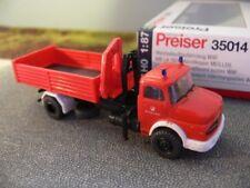 1/87 Preiser MB LA 1924 Feuerwehr Abrollkipper Wechselaufbaufahrzeug 35014