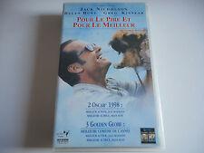 K7 VHS / CASSETTE VIDEO - POUR LE PIRE ET POUR LE MEILLEUR - JACK NICHOLSON