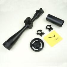 Rifle Scope 10-40*50 Set with Sunshade 11mm Rings Handwheel Fogproof Waterproof