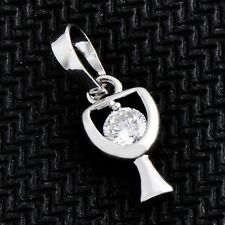 Goblet Type Pendant For Women's White Gold Filled Clear Cubic Zirconia  M0155