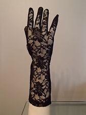 Gants satin dentelle long noirs sexy glamour gothique neuf ladydjou