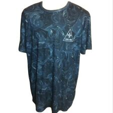 NWT Criminal Damage Streetware Marble Graphic T Shirt Blue XXL