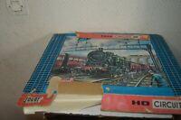 COFFRET TRAIN MECANIQUE JOUEF LOCOMOTIVE  4 WAGON 6 RAIL BOITE CIRCUIT 50 1970