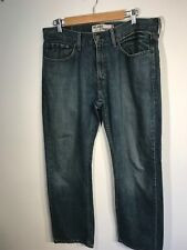 Mens Jeans de Levi 559 Red Label relajado Corte Recto 33 W 32 L Denim
