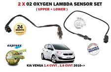 Pour KIA VENGA 1.4 1.6 mugissement Essence 2010 - > Upper + Lower 02 Oxygène Sondes Lambda