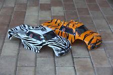 2pk Combo Set Traxxas Stampede Tiger Zebra Body 1/10 Truck Shell Bigfoot Rustler