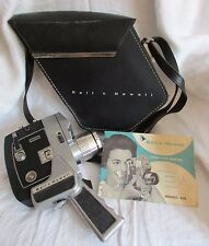 VTG BELL & HOWELL DIRECTOR SERIES 416 8MM MOVIE CAMERA OPTRONIC EYE LEATHER CASE