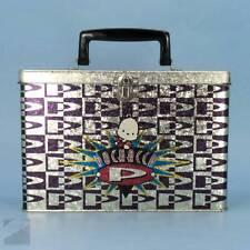 Pochacco Sanrio Vintage 1996 Metal Box Purse Lunch Storage Tote RARE Great Cond