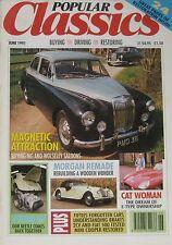 Popular Classics 06/1991 featuring Fiat, Citroen, Jaguar, MG, Wolseley, Morgan
