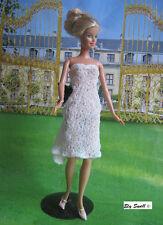 White dress  for Barbie,Fashion Royalty,Poppy Parker