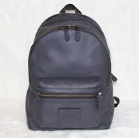 💚 COACH Mens Leather Academy Backpack Travel College School Book Bag $495 NWT