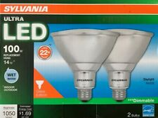 SYLVANIA ULTRA 100-Watt PAR38 Bright White Dimmable LED Flood Light - WET Rated