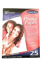 Printer Photo Paper Sheets Glossy 25 Stationary Crafts Design Supplies