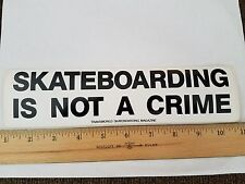 VTG 80's TRANSWORLD MAGAZINE SKATEBOARDING IS NOT A CRIME NOS SKATEBOARD STICKER