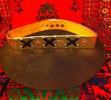 Vtg. 60's 70's Elvis Costume Metallic Gold Rhinestone Belt