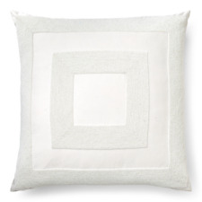 Ralph Lauren Amaya Beaded Decorative Pillow, 18 x 18 -White