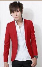 Stylish Charm Men's Casual Slim Fit One Button Top Suit Blazer Coat Jacket Tops
