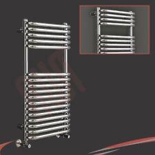 "500mm(w) x 1200mm(h) ""Orion"" Chrome Designer Heated Towel Rail, Warmer, Radiator"
