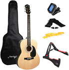 Martin Smith Acoustic Guitar Kit with Full-Size Acoustic Guitar, Guitar Stand, & for sale