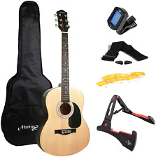 More details for martin smith acoustic guitar kit with full-size acoustic guitar, guitar stand, &