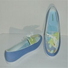 GRASSHOPPERS PURE FIT COMFORT SLIP ON SHOES - BLUE & FLORAL - SIZE 9½ – NWT $52