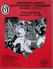 1989 OHIO HIGH SCHOOL FOOTBALL CHAMPIONSHIP PROGRAM          STATE SEMIFINALS