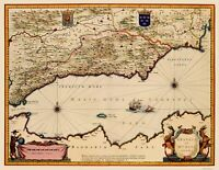 Granada Murcia Spain - Blaeu 1635 - 23.00 x 29.76